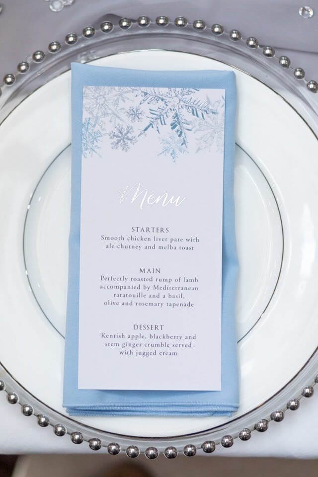 Ideas and Inspiration for your Winter Wonderland Wedding theme