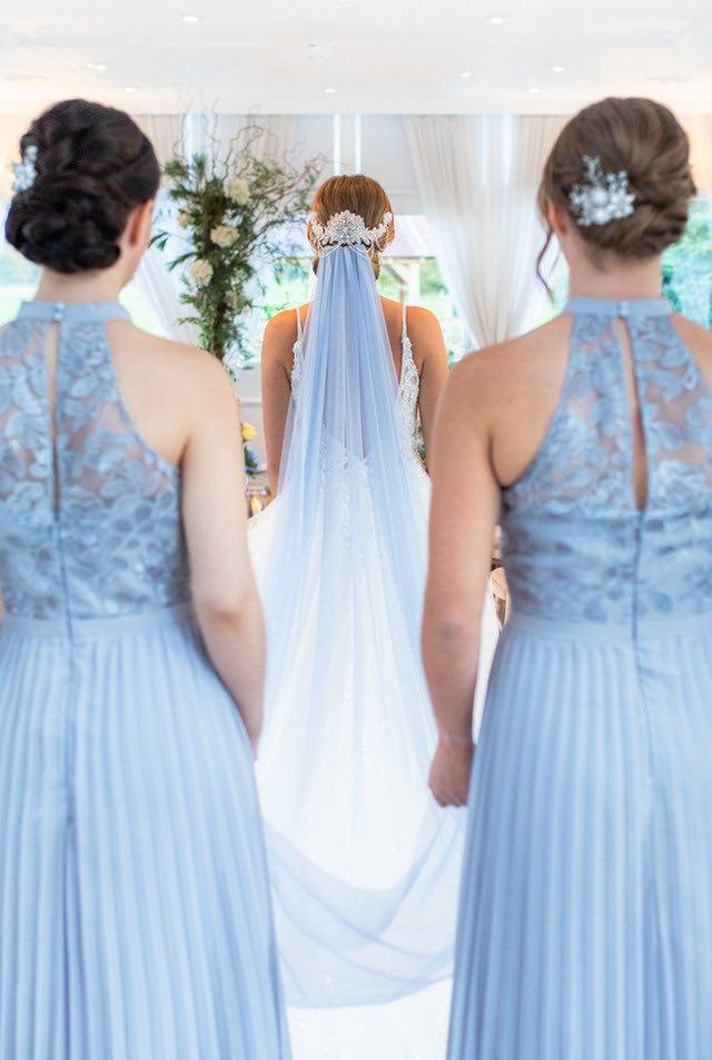 Pale Blue Colour Scheme for your Winter Wedding, Winter Wonderland Theme, Pale blue Bridesmaids Dresses