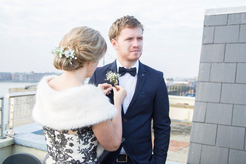 Winter Wedding Wedding Dress and Accessories