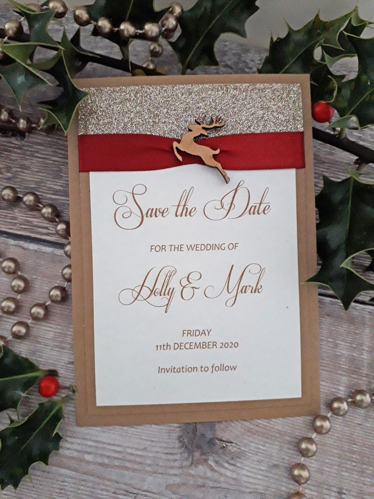 Ideas for Winter, Christmas Wedding Stationery.
