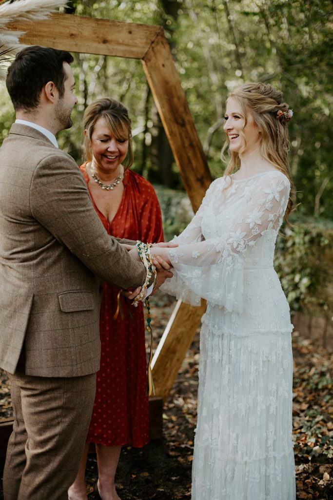 Beautiful Celebrant Woodland Ceremony