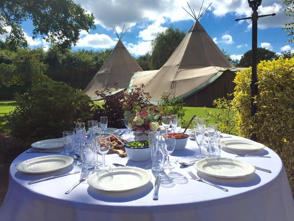 Outdoor tipi weddings